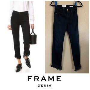 Frame Denim fringe Le High straight jeans 25